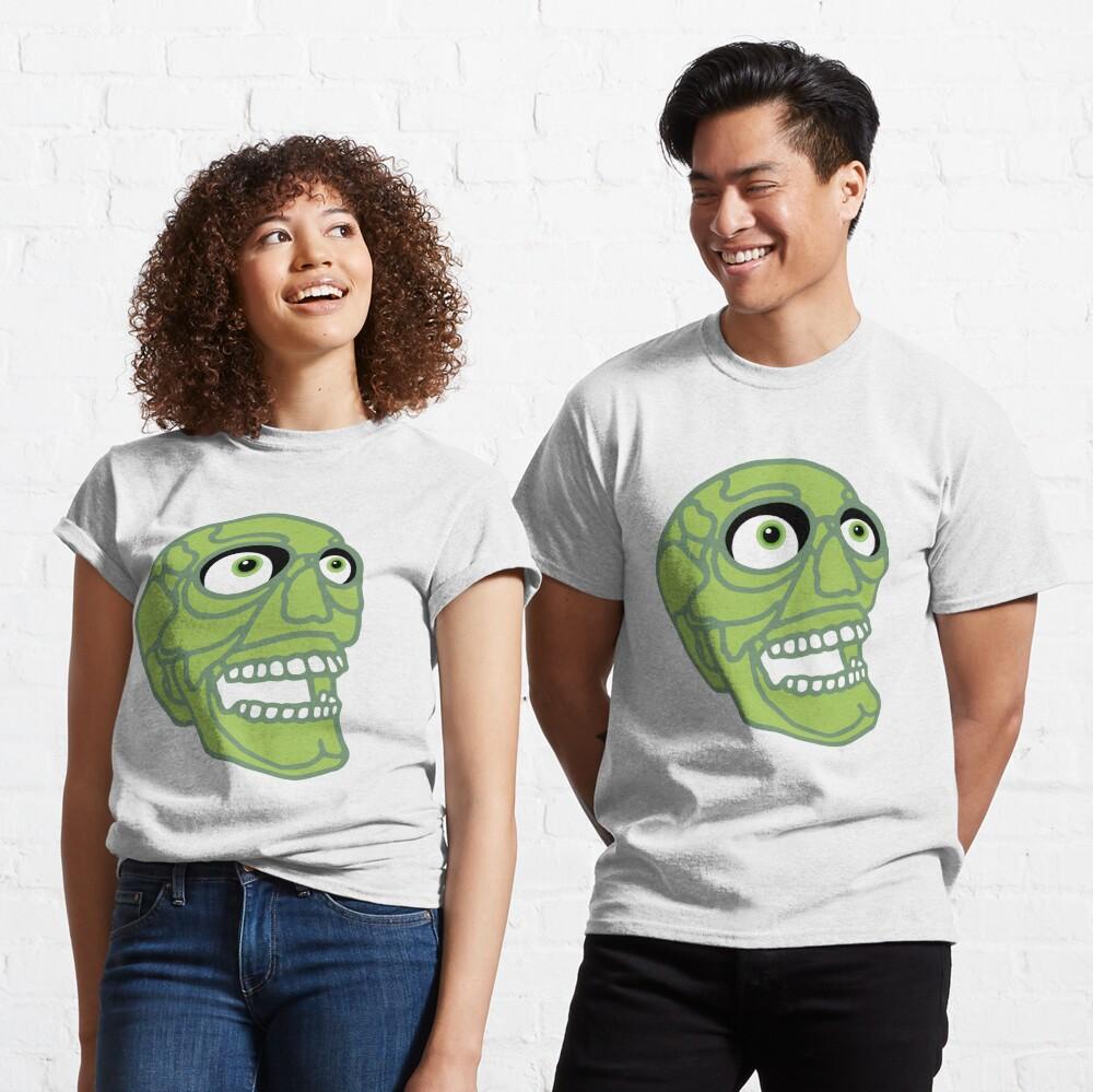 Skull (green) Classic T-Shirt