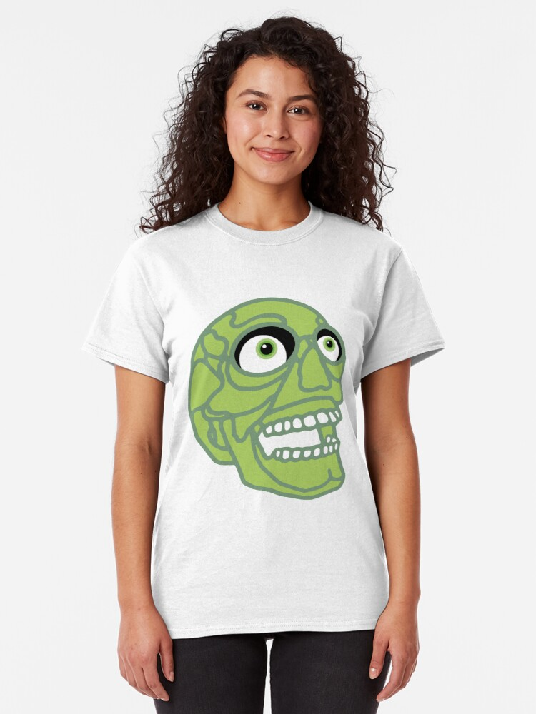Alternate view of Skull (green) Classic T-Shirt