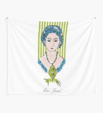 The jewel, woman face with cat Wall Tapestry