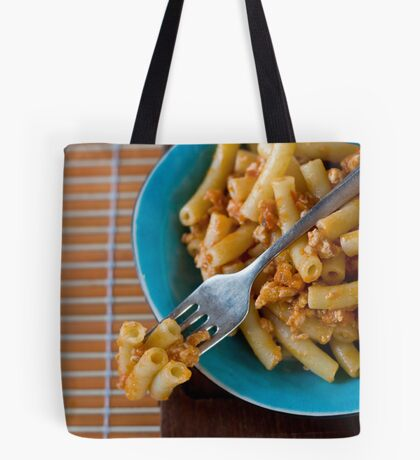 Pasta with ragú Tote Bag