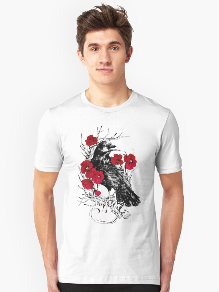 Poppy Crow Unisex T-Shirt Front
