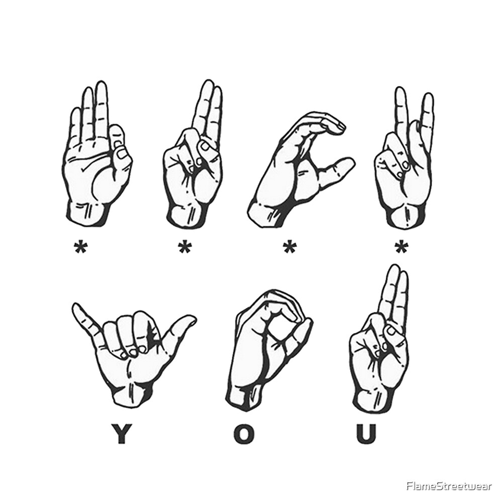 Say fuck you in sign language