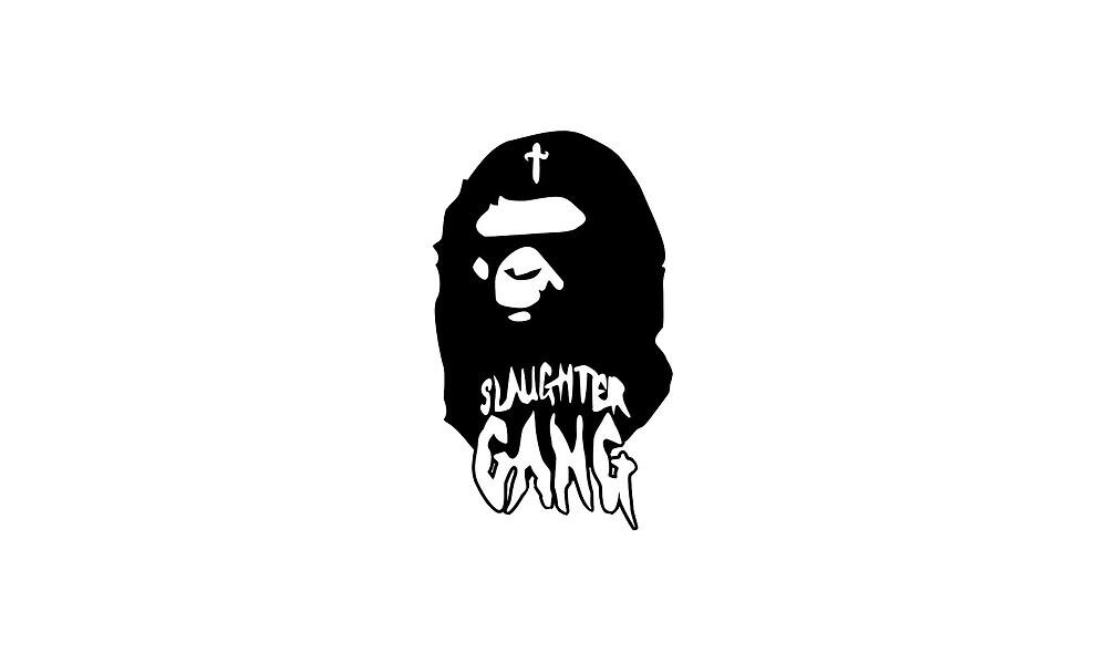 bape x slaughter gang  by designerkarp