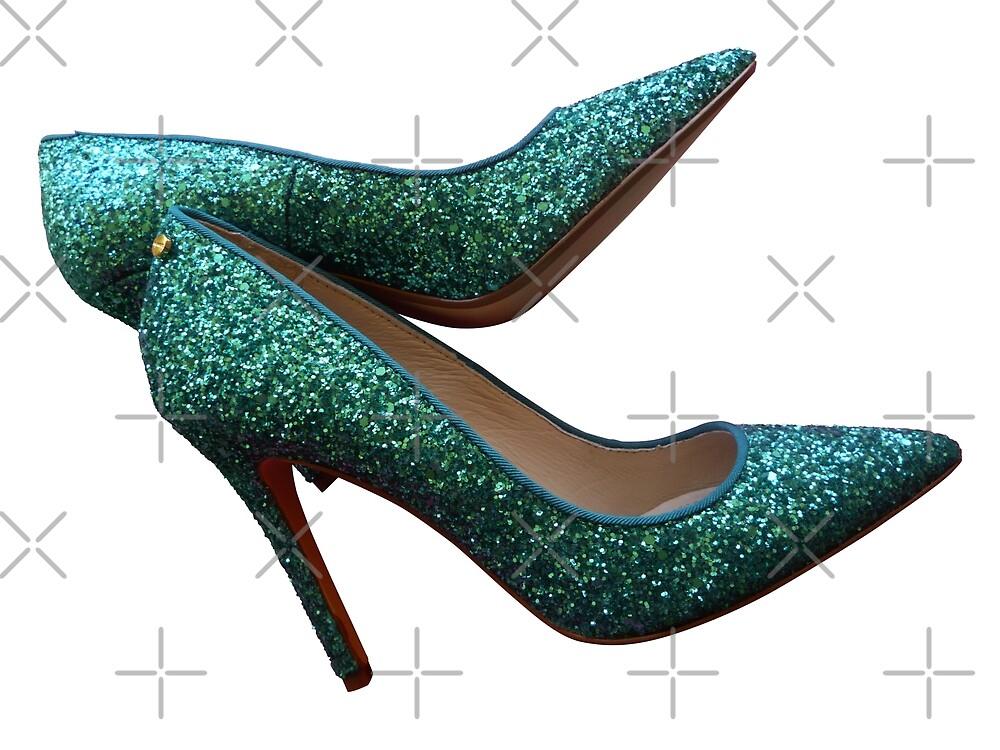 Glitter stylish high heel shoe by Lefteris Betsis
