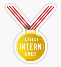 Gift For Intern Medal Champion T-Shirt Sticker