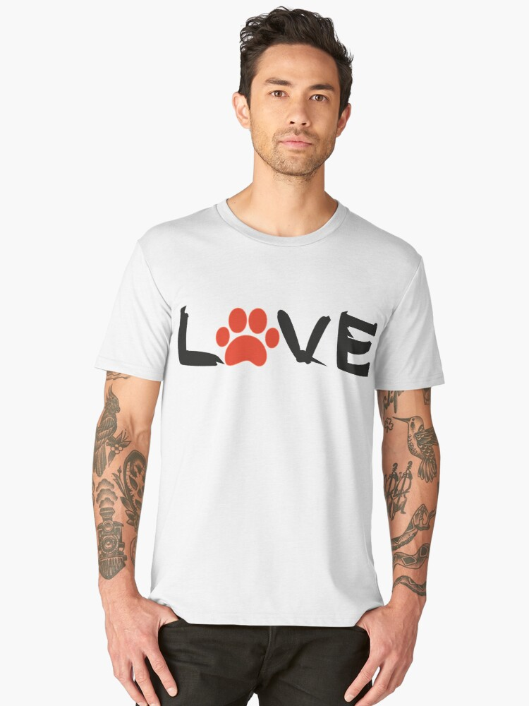 The love of Dogs and Animals Men's Premium T-Shirt Front