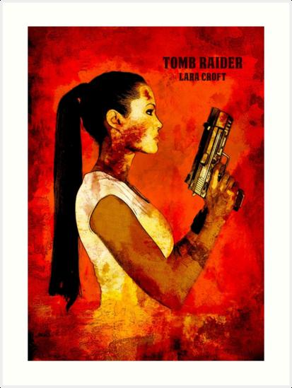 Lara Croft Tomb Raider Minimalist Art by TopTeesShop