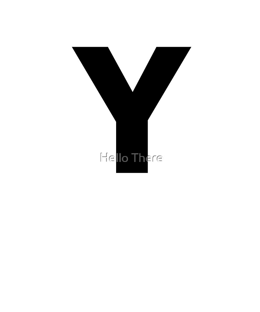 Letter Y - Simple Text by TheFamilyCrest