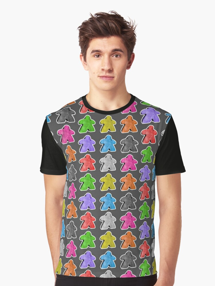 Meeple People Graphic T-Shirt Front
