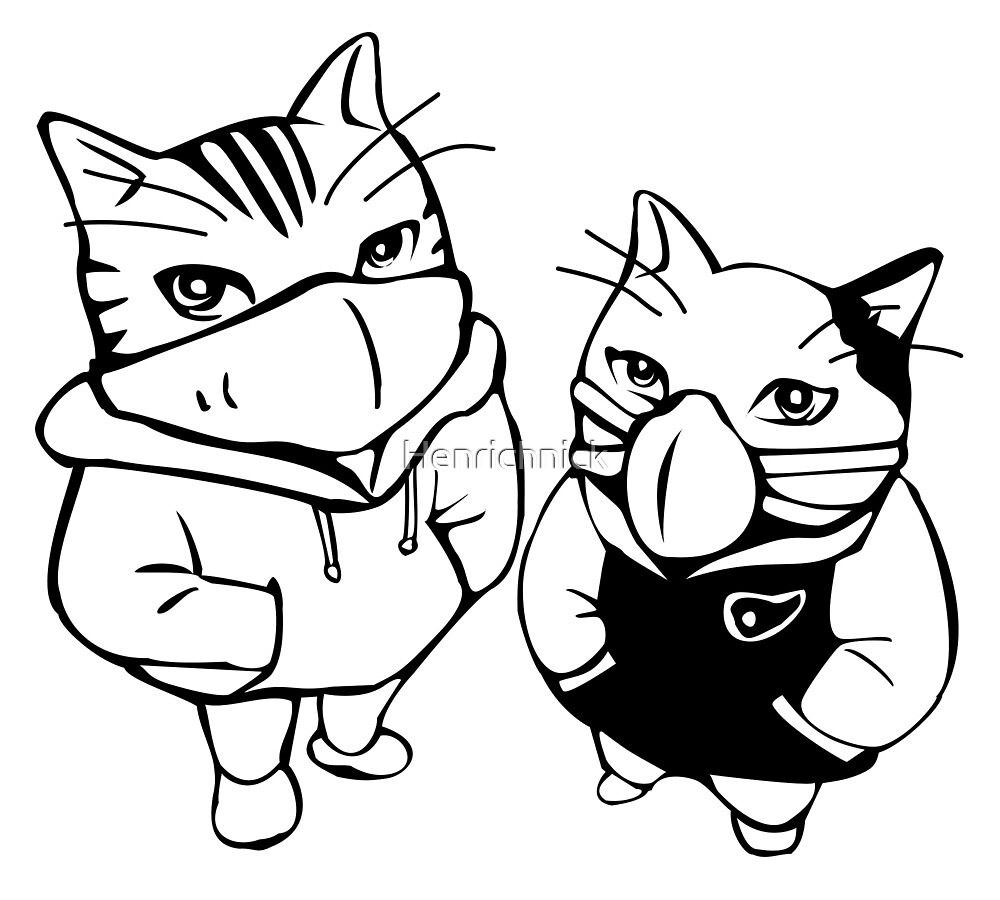 Cool Japan cats by Henrichnick