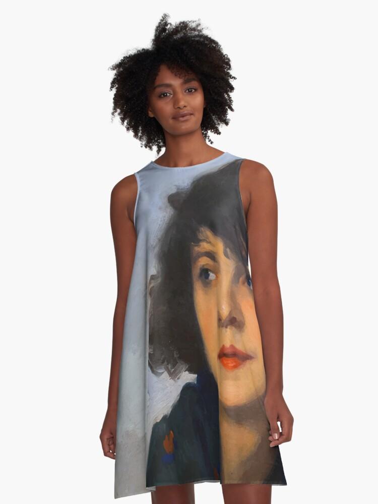 Fine Art Painting A-Line Dress Front