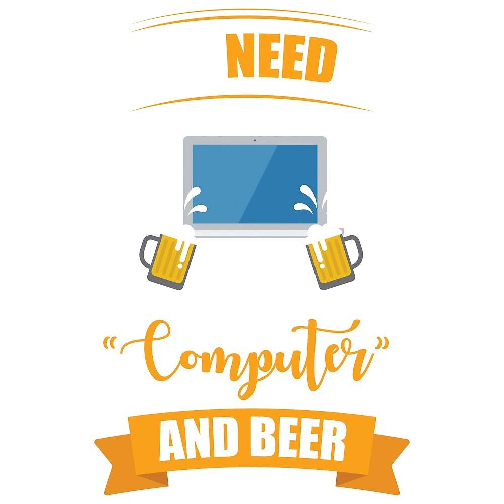 Computer & Beer by nZDesign
