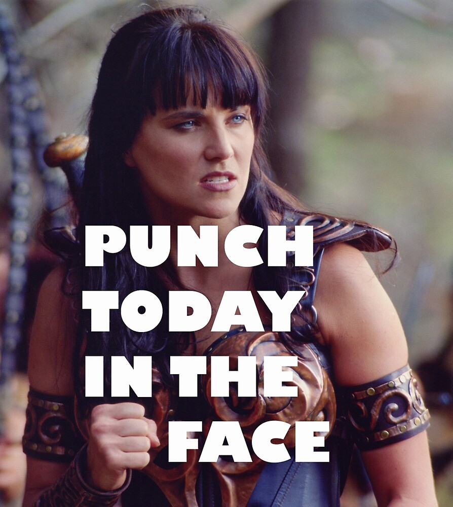 Punch Today In The Face (Larger) by Hallagay
