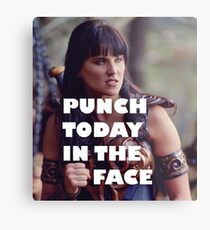 Punch Today In The Face (Larger) Metal Print