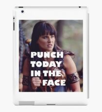 Punch Today In The Face (Larger) iPad Case/Skin
