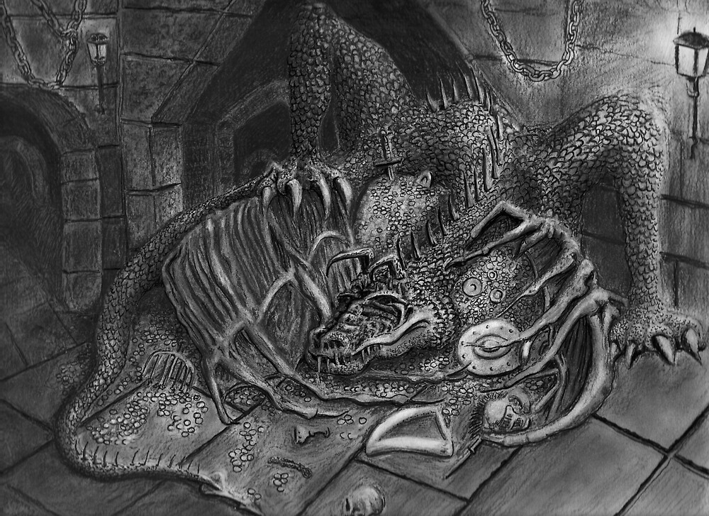 The Dragon Smaug by weirdpuckett