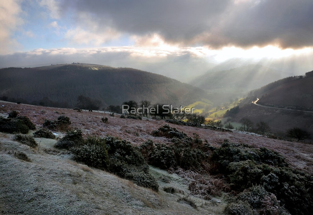 Sunrays over a frozen Horseshoe Pass by Rachel Slater
