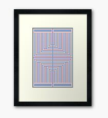 All Roads - Pink & Blue Op-Art Design Framed Print