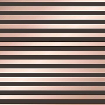 Rose gold and black stripes pattern, modern,trendy,beautiful,metallic,chic,elegant,pattern,rosegold,black,stripes, by love999
