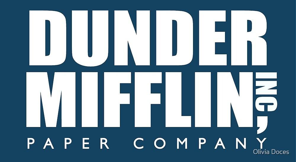 Dunder Mifflin Logo by Olivia Doces