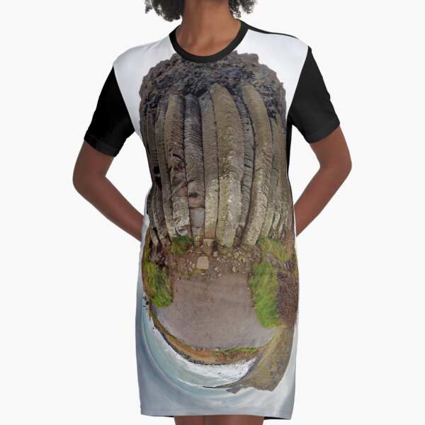 The Giant's Organ Pipes Graphic T-Shirt Dress
