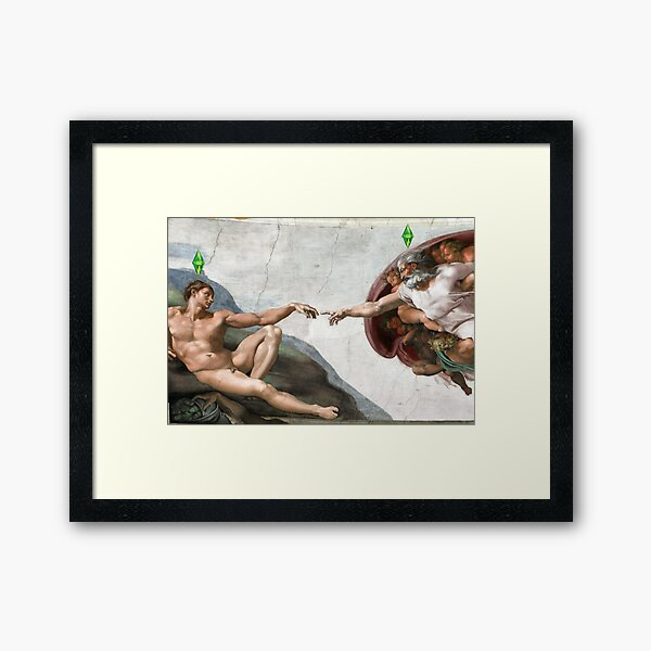 The Creation of Adam Sims Framed Art Print