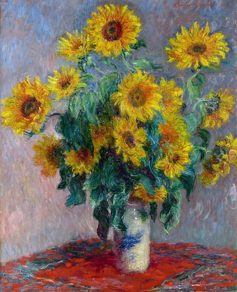 Claude Monet Bouquet of Sunflowers by pdgraphics