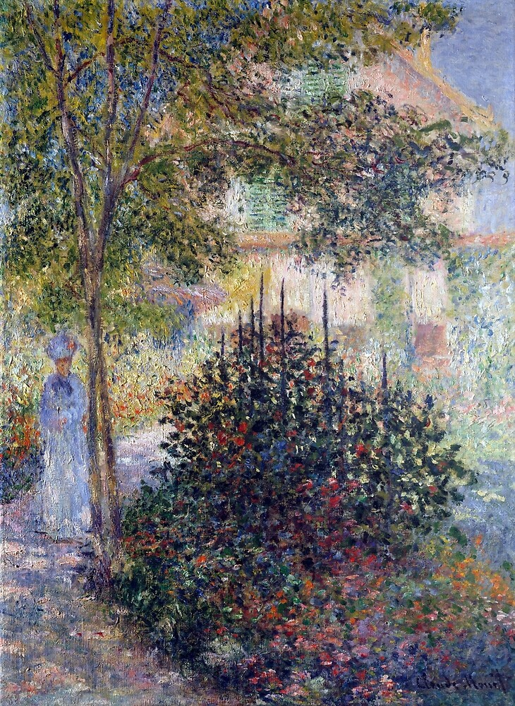 Claude Monet Camille Monet in the Garden at Argenteuil by pdgraphics