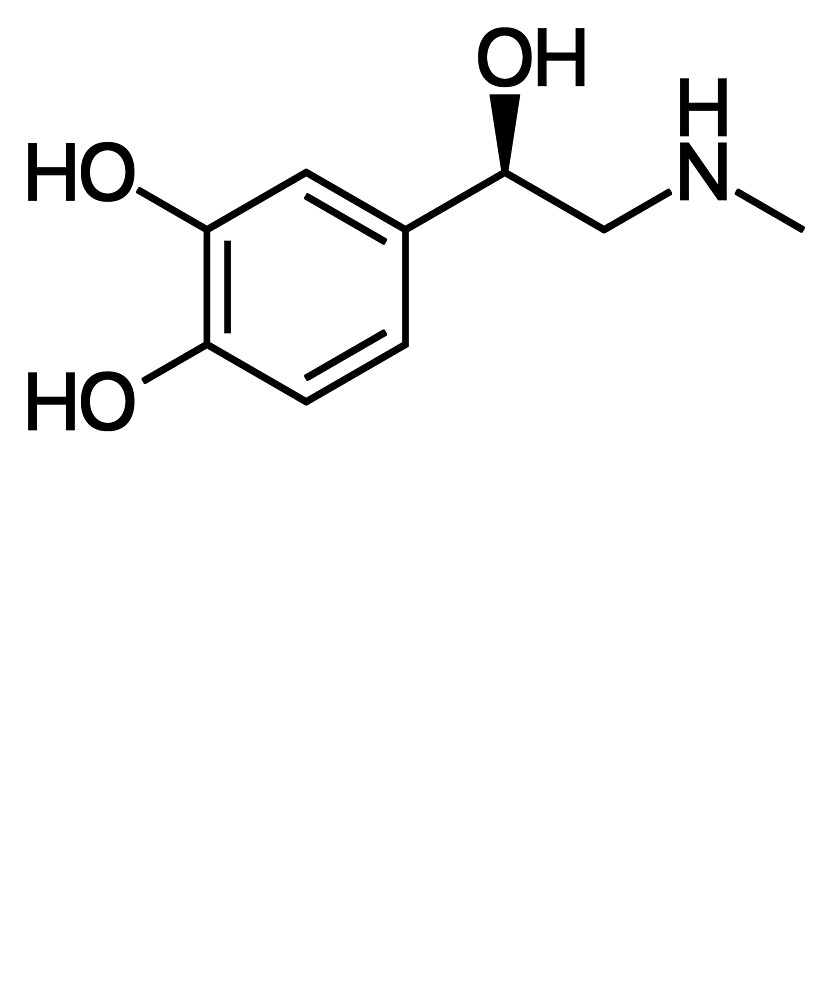 Adrenaline/Epinephrine Chemistry Molecule Structure  by the-elements