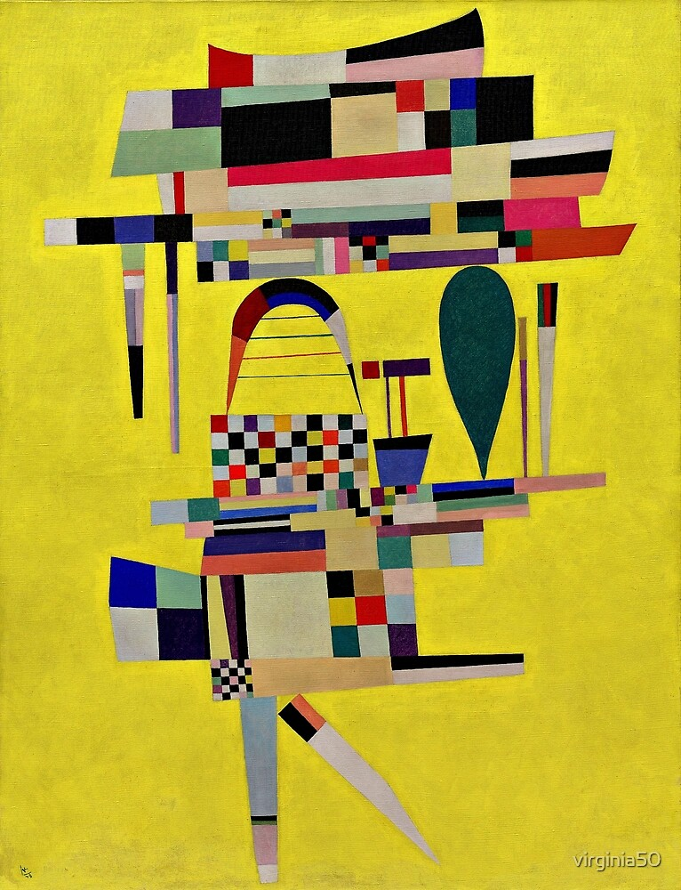 Kandinsky - Yellow Painting by virginia50