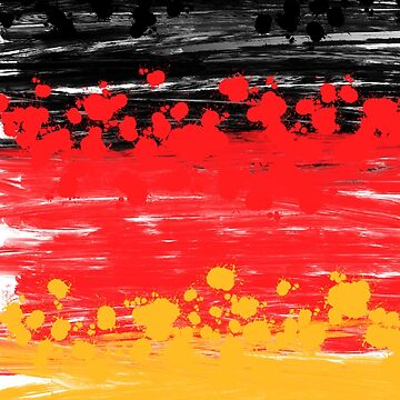 Germany Colors, German Flag, Splash, Splatter  by boom-art