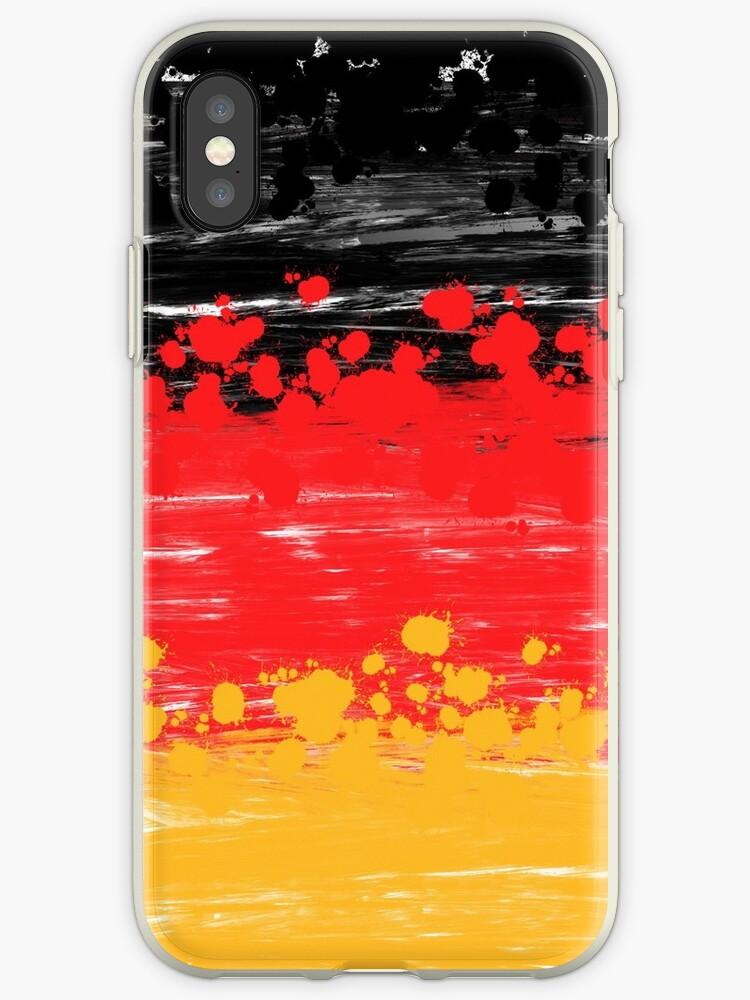 Germany Colors, German Flag, Splash, Splatter  by Anne Mathiasz