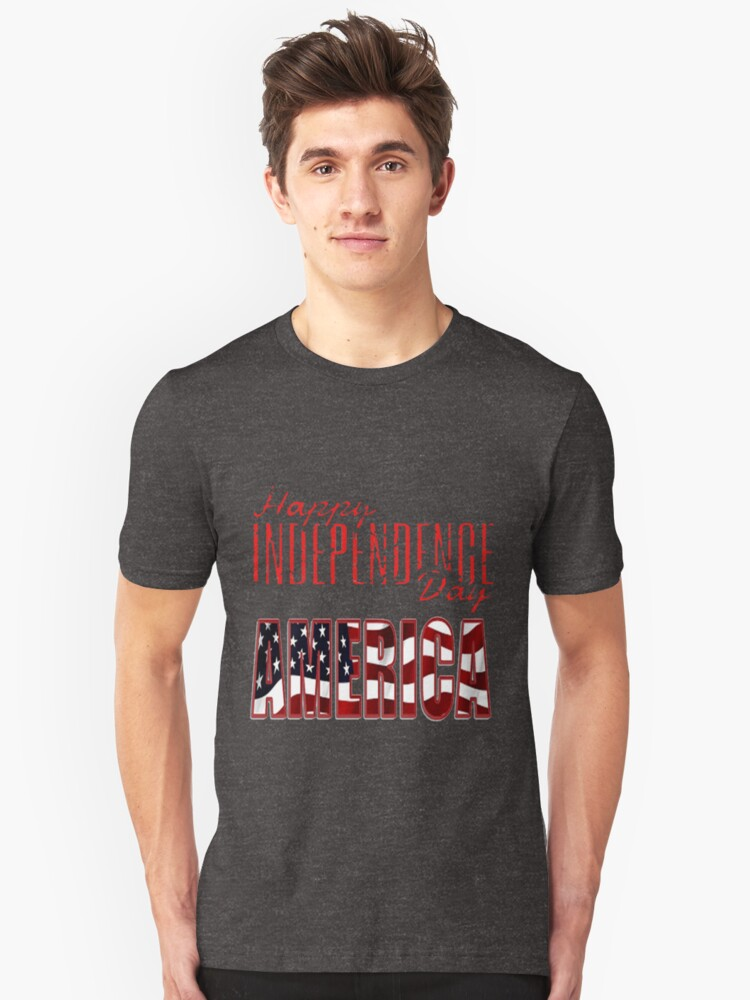 Happy Independence Day 4th of July Celebrations Unisex T-Shirt Front