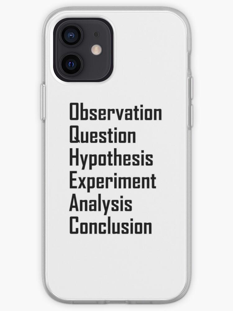 La méthode scientifique - Scientifique Scientifique Méthode expérimentale   Coque iPhone
