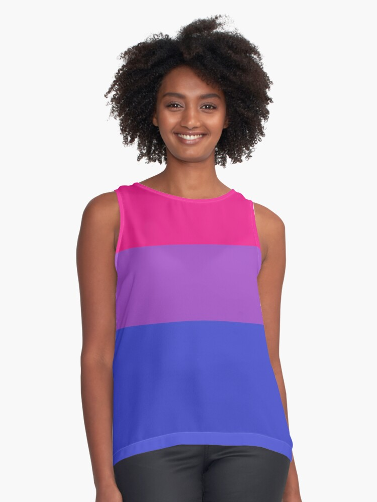 Bisexual flag Contrast Tank Front