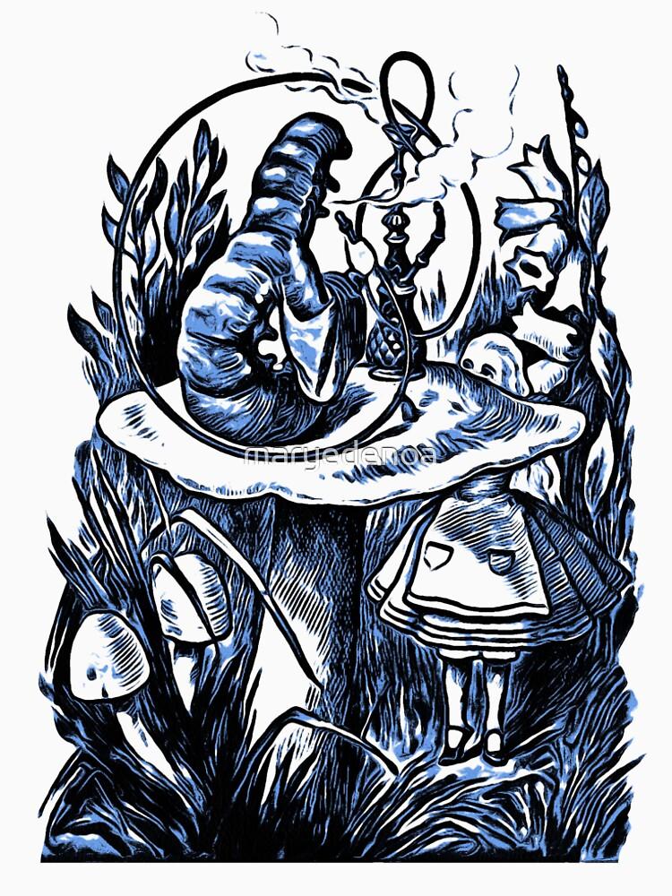 Alice und die Wasserpfeife rauchen Caterpillar - Alice im Wunderland von maryedenoa