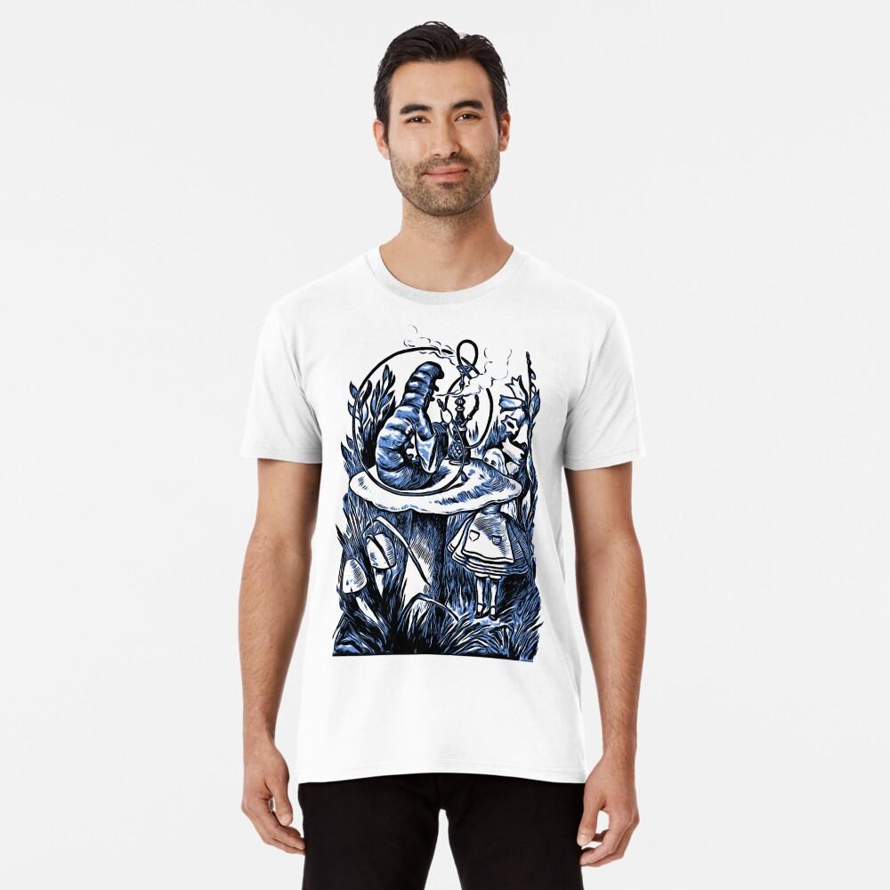 Alice und die Wasserpfeife rauchen Caterpillar - Alice im Wunderland Premium T-Shirt