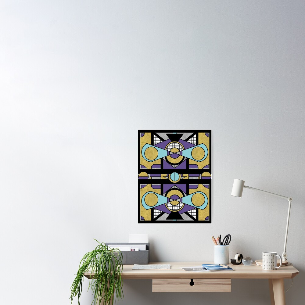 Art Deco Set Piece - Geometric Abstract  Poster