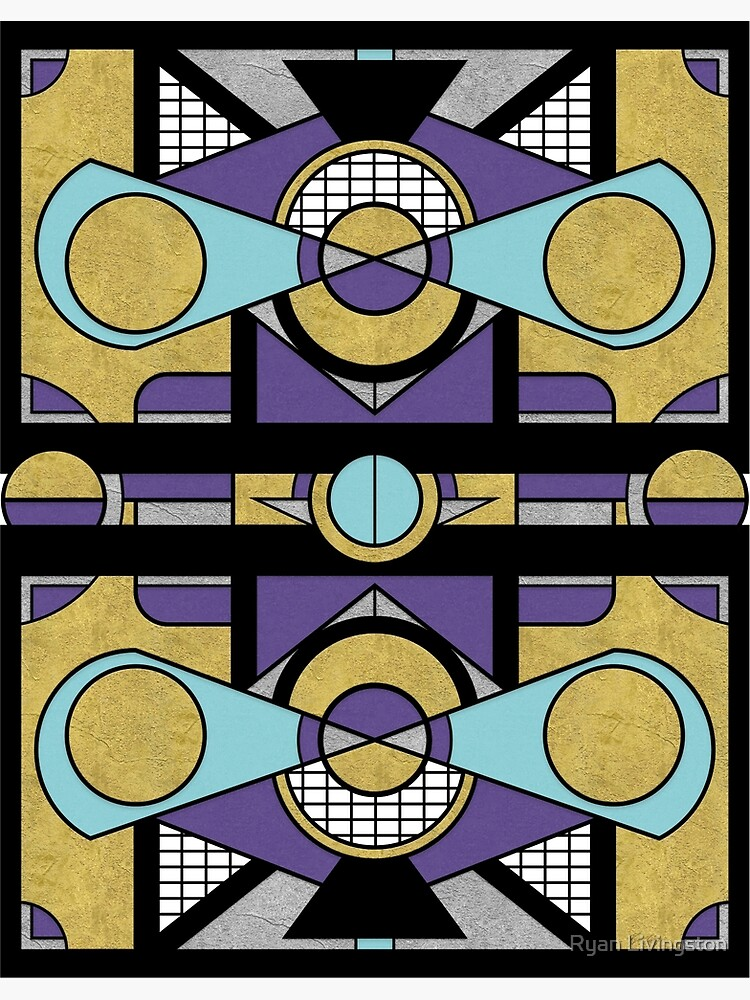 Art Deco Set Piece - Geometric Abstract  by RMLstudios