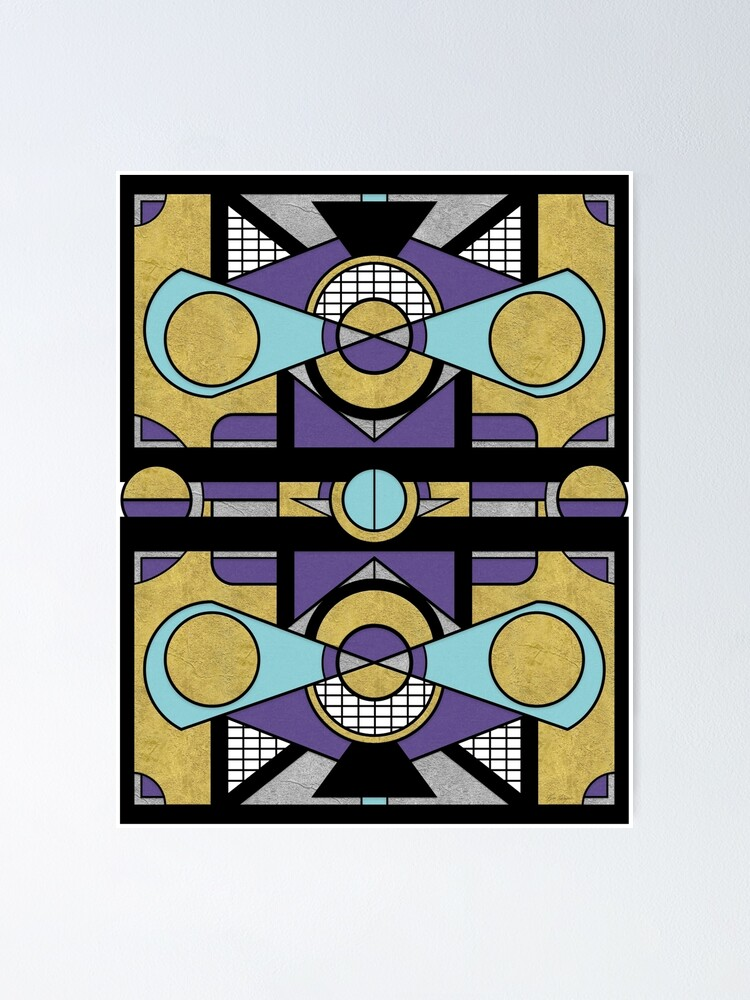 Alternate view of Art Deco Set Piece - Geometric Abstract  Poster