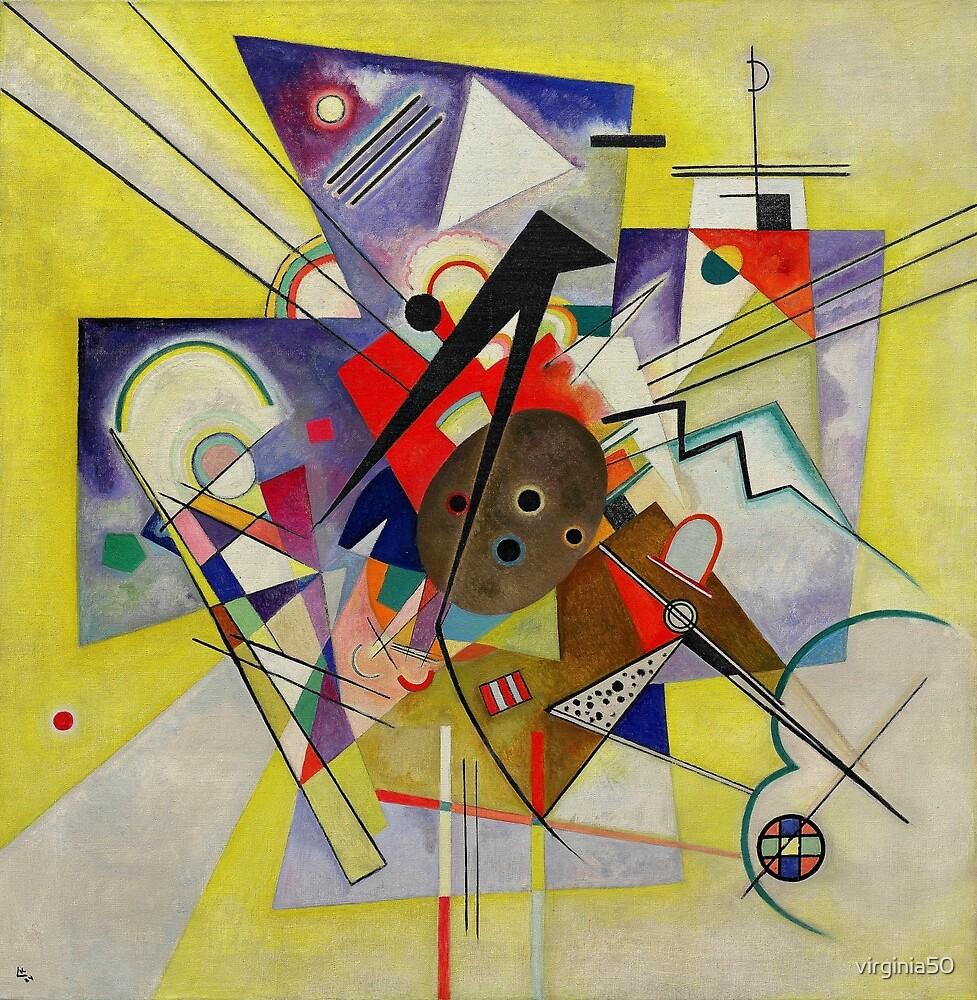 Kandinsky - Yellow Accompaniment by virginia50