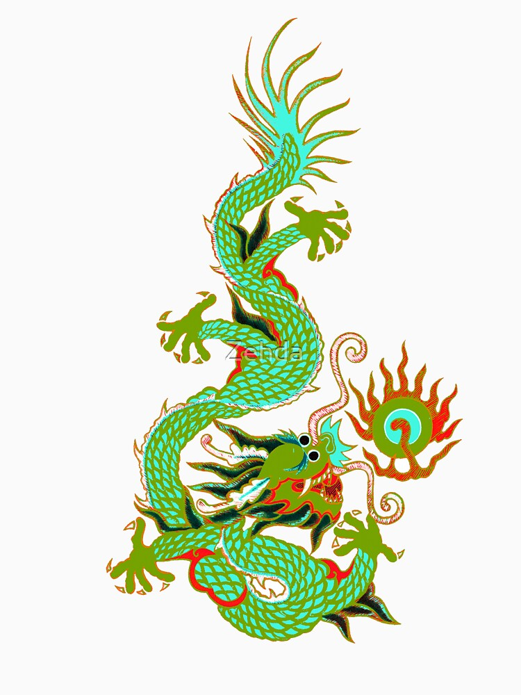 Asian Art Chinese Dragon by Zehda