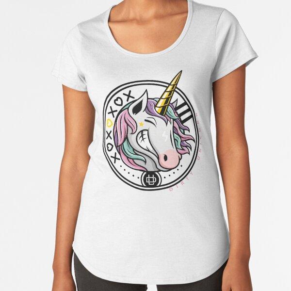 Womans Ladies Girls Cosplay Tumblr Unicorn Rainbows Pink Princess Weed T Shirt