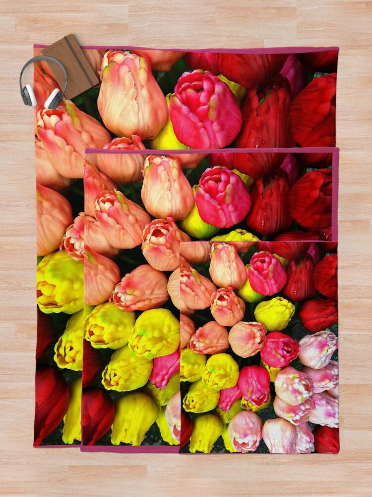 Alternate view of Amsterdam Tulips  Throw Blanket