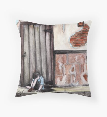 """""""Alone, by Naomi Frost""""  Throw Pillow"""
