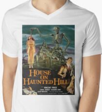 Vintage poster - House on Haunted Hill Men's V-Neck T-Shirt