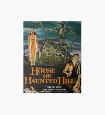 Vintage poster - House on Haunted Hill Art Board