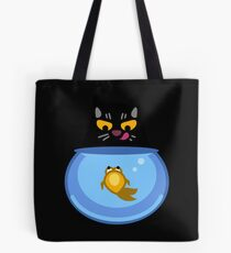 Funny Catfish Tshirt and Stickers - Cat Gifts for Catfish lovers everywhere! Tote Bag