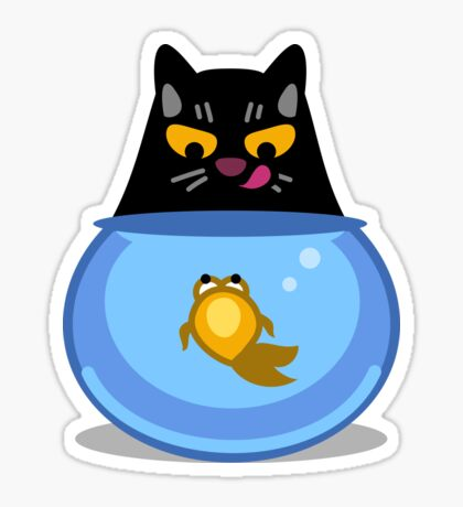 Funny Catfish Tshirt and Stickers - Cat Gifts for Catfish lovers everywhere! Sticker