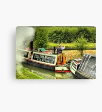 Steam Narrowboat President and Butty Kildare - Braunston Canvas Print